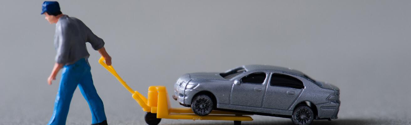Car being taken away
